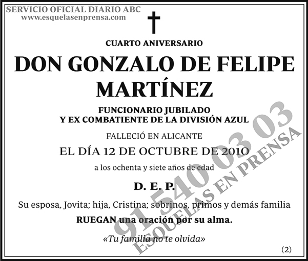 Gonzalo de Felipe Martínez